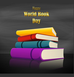 colorful book for world book day vector image
