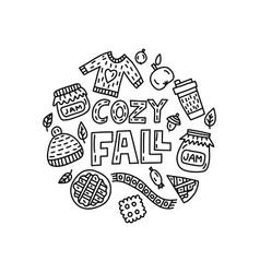 Cozy doodle vector