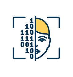 Cryptography rgb color icon vector