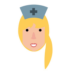 Cute nurse cartoon vector