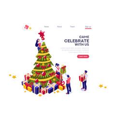 decoration for celebration banner vector image