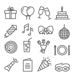 event line icons set on white background vector image