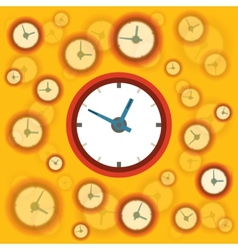 Flat clock background vector
