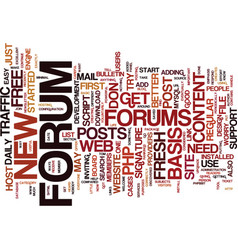 Forums a one way ticket to easy free traffic text vector