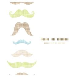 Fun silhouette mustaches vertical frame seamless vector