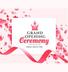 Grand opening ceremony celebration banner design vector