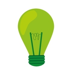 green light bulb lightbulb icon vector image