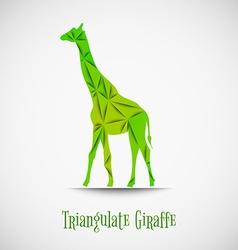 green triangulate giraffe vector image