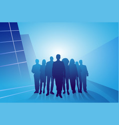 Group of business people silhouette businesspeople vector