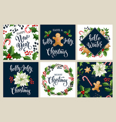 happy new year 2019 merry christmas white and vector image