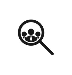 headhunting icon design template isolated vector image
