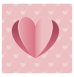 Heart Shape Background vector image