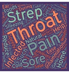 Home Remedies For Strep Throat text background vector image