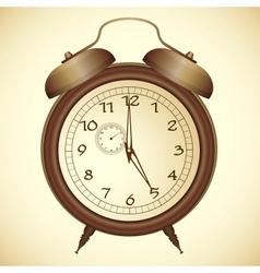 Icon antique bronze alarm clock vector