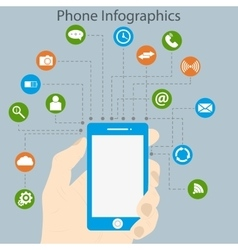 infographics phone vector image
