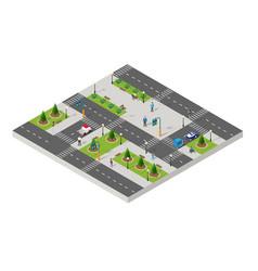 Isometric park people urban infrastructure vector