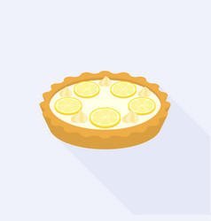 Lemon crumble tart vector