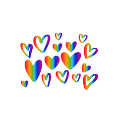 lgbt flag against homosexual discrimination vector image
