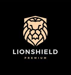 Lion shield logo icon vector