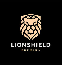 lion shield logo icon vector image