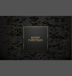 merry christmas luxury banner golden text vector image