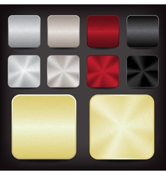 metallic app icons vector image