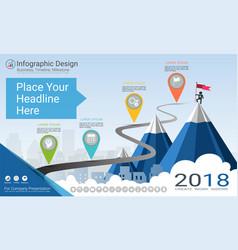 Milestone timeline infographic design vector
