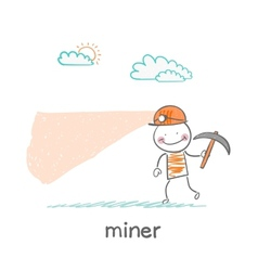 miner looking minetaly vector image