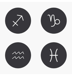 modern sings of the zodiac icons set vector image