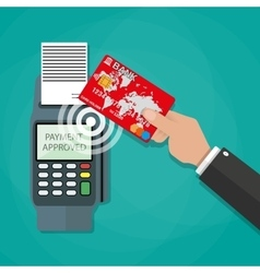 Nfc payments concept vector