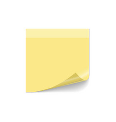 note post curled paper post note vector image