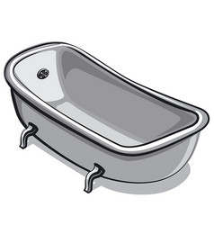 old bathtube vector image