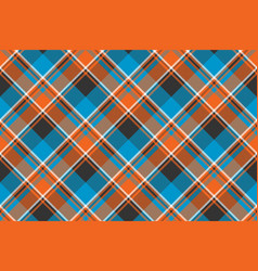 Orange blue fabric texture seamless pattern vector