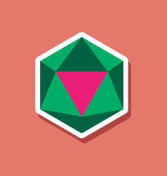 Paper sticker on stylish background virus vector