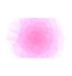 pink and white abstract polygonal geometric vector image