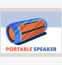 Portable wireless speaker in flat style vector