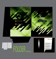 Presentation folder template vector