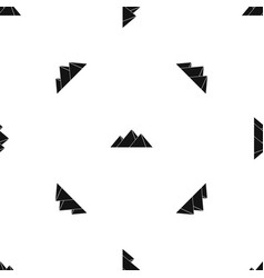 Pyramids in giza pattern seamless black vector