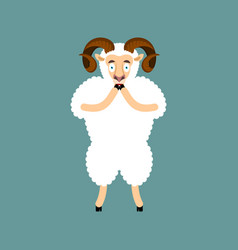 Ram omg sheep oh my god emoji frightened farm vector