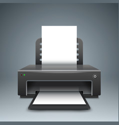 realistic 3d printer paper a4 icon vector image