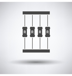 Resistor tape icon vector image