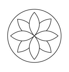 rune line icon vector image