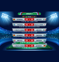 Russia world cup group f vector