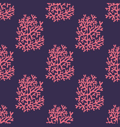 sea corals on a purple background vector image
