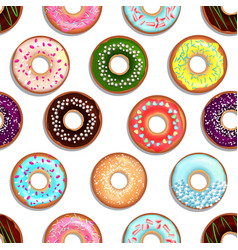 Seamless pattern with tasty foods desserts vector