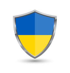 shield with flag of ukraine isolated vector image