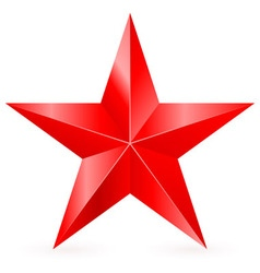 Shiny RED star 01 vector image