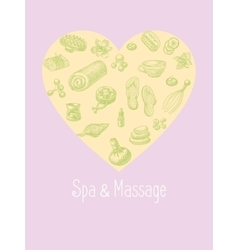 SPA and massage accessories set in the vector