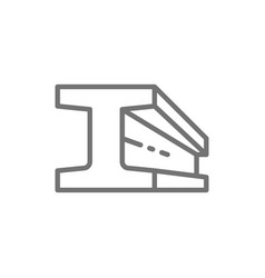 Steel beam product metallurgy product line icon vector