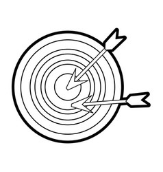 Target or bullseye with arrow icon image vector
